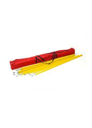 Agility Pole Set 1.6m x12 with Bag
