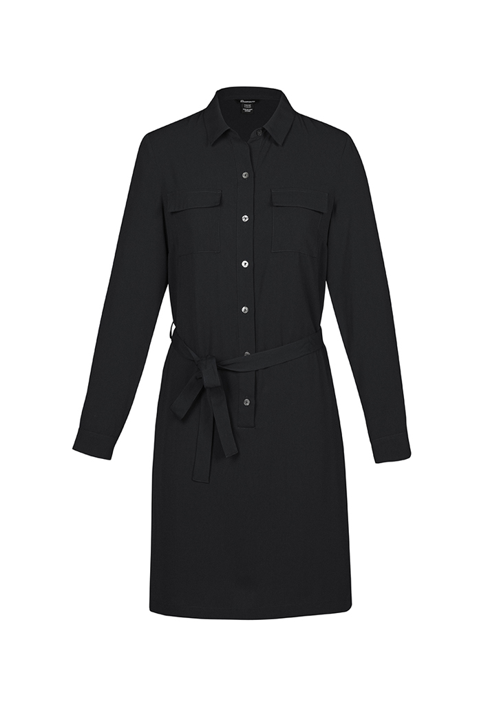 Womens Chloe Georgette Shirt Dress