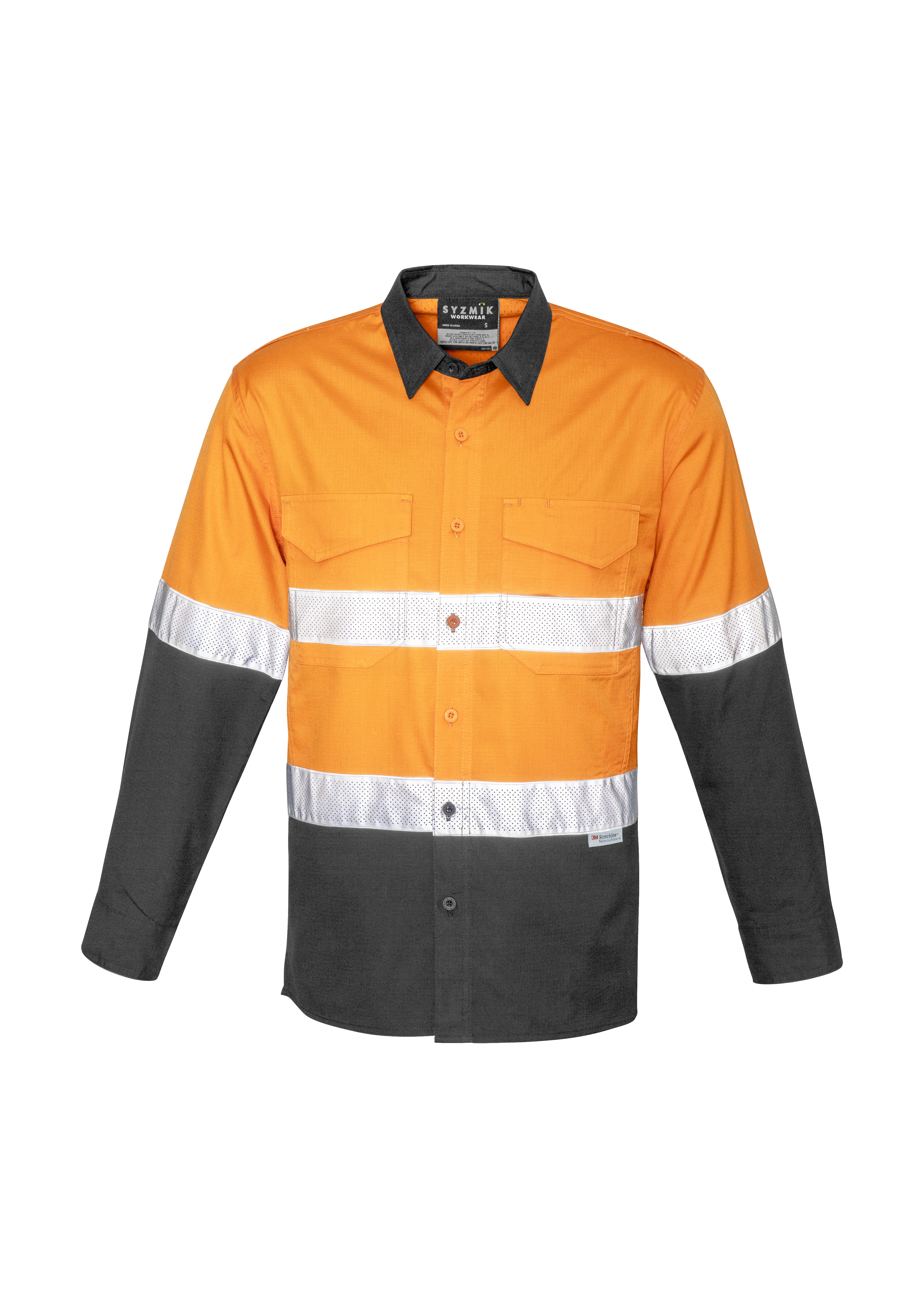 Mens Rugged Cool Tape HiVis Splice Shirt