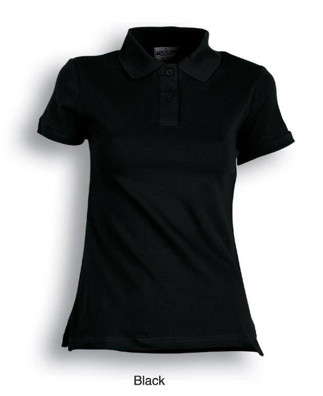 Ladies Pique Knit Fitted Cotton / Spandex Polo