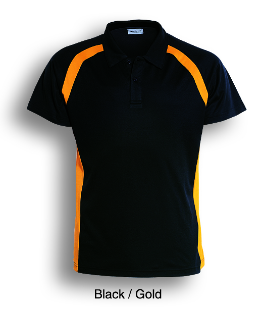 Team Essential-Ladies Short Sleeve Contrast Panel Polo