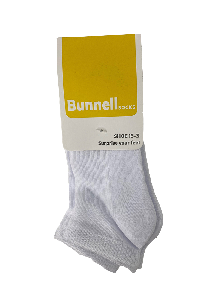 Bunnell Below Ankle Sock (3 pack) - White