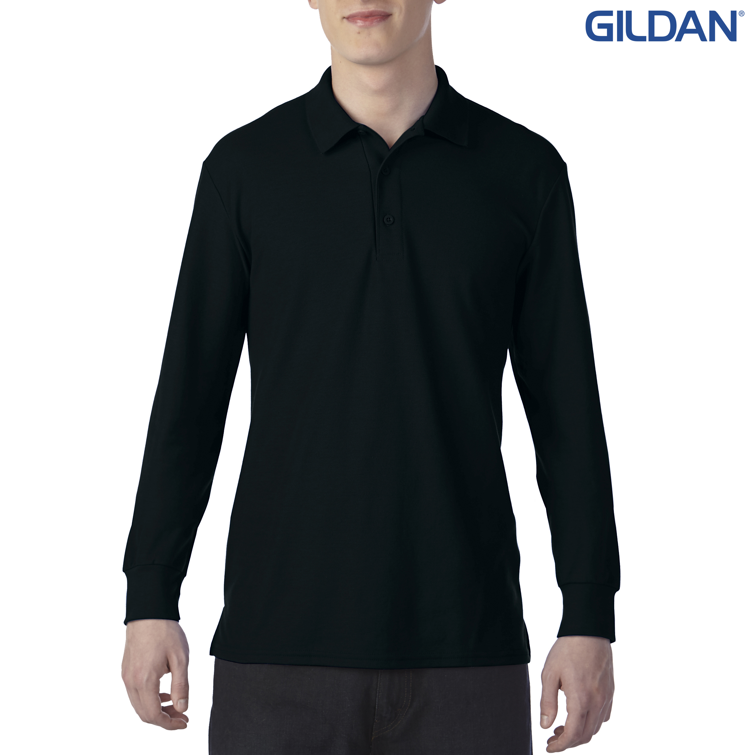 Adult Double Pique Long Sleeve Sport Shirt