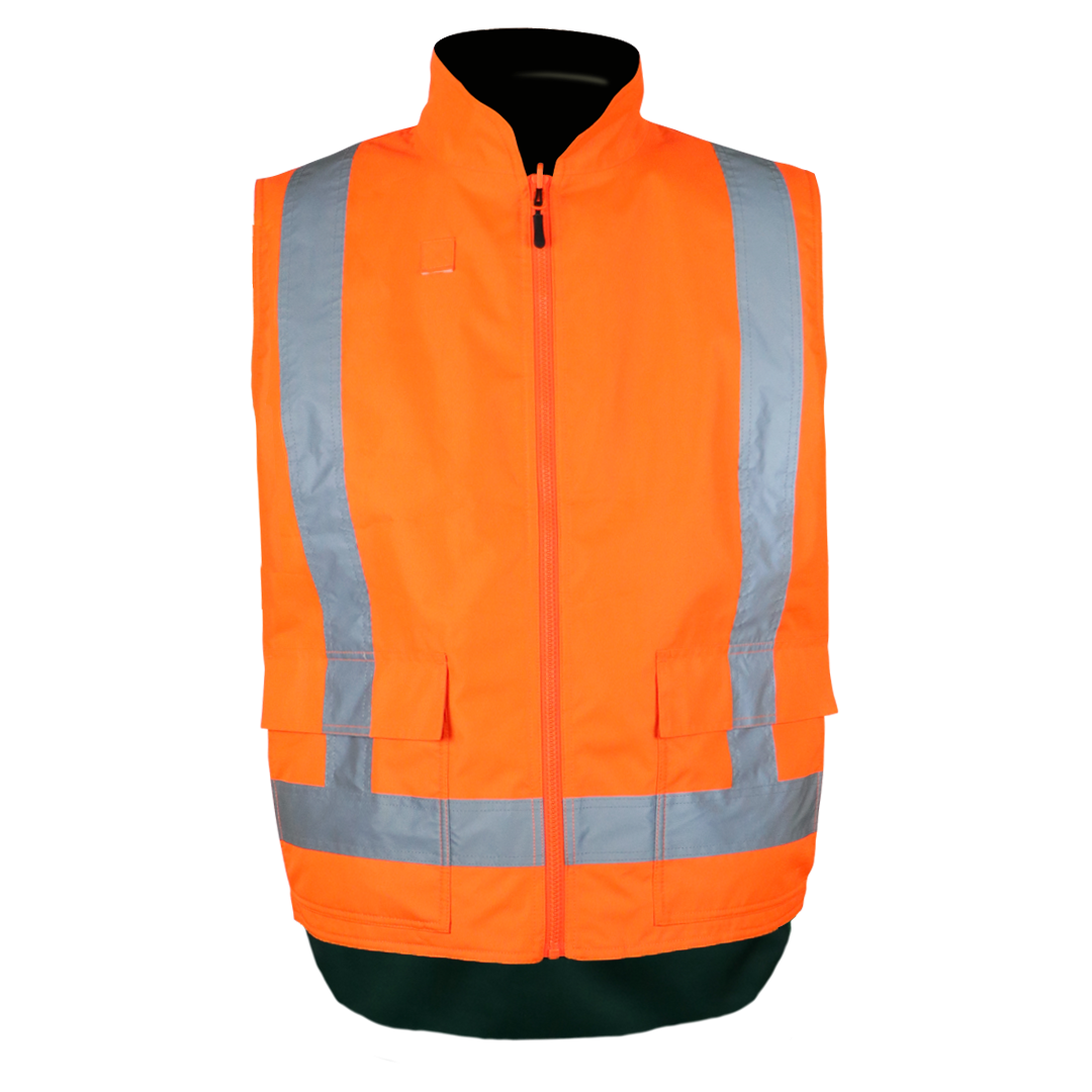 Reversible Fleece Lined Hi Vis Safety Vest