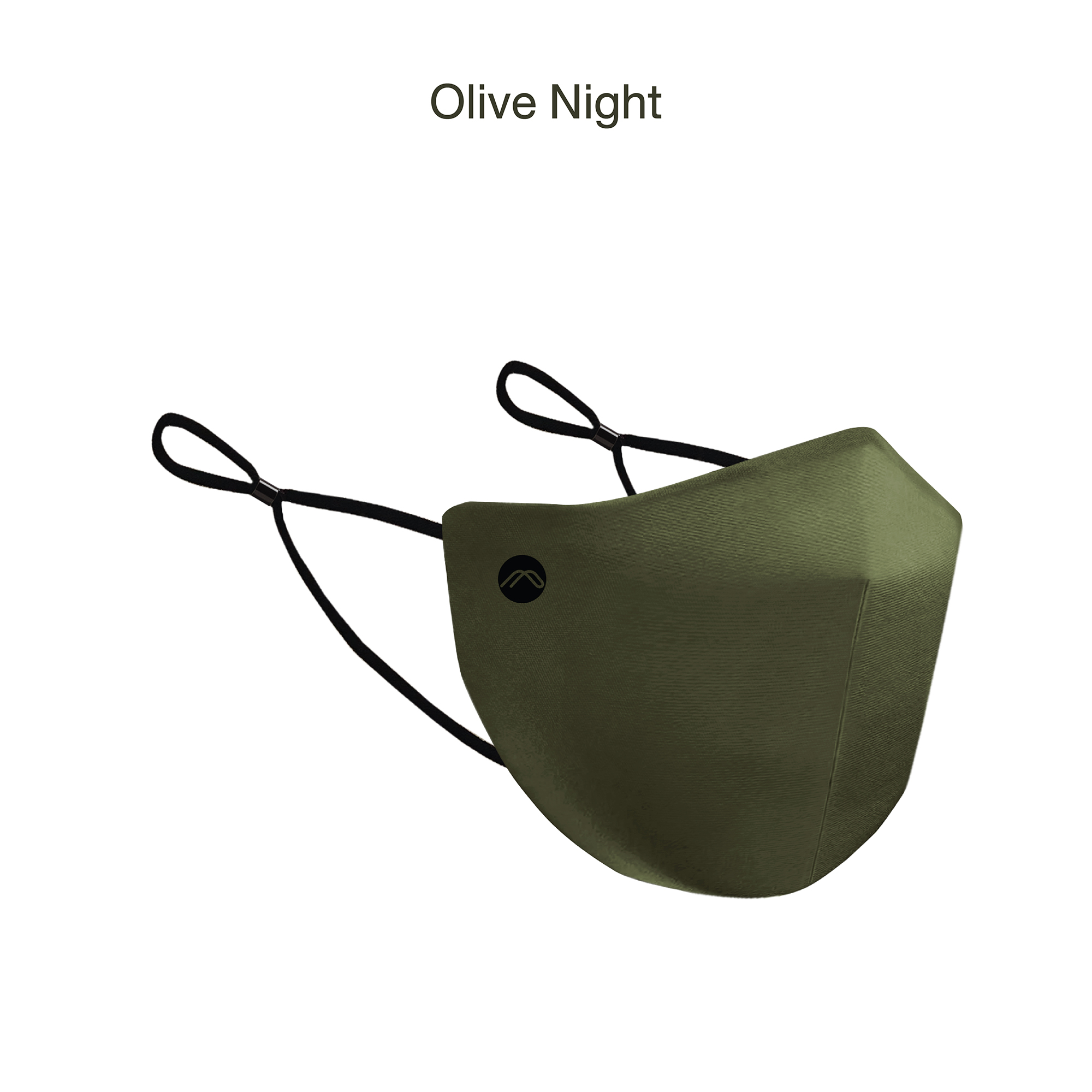 2 Layer Plain Facemask Olive Night