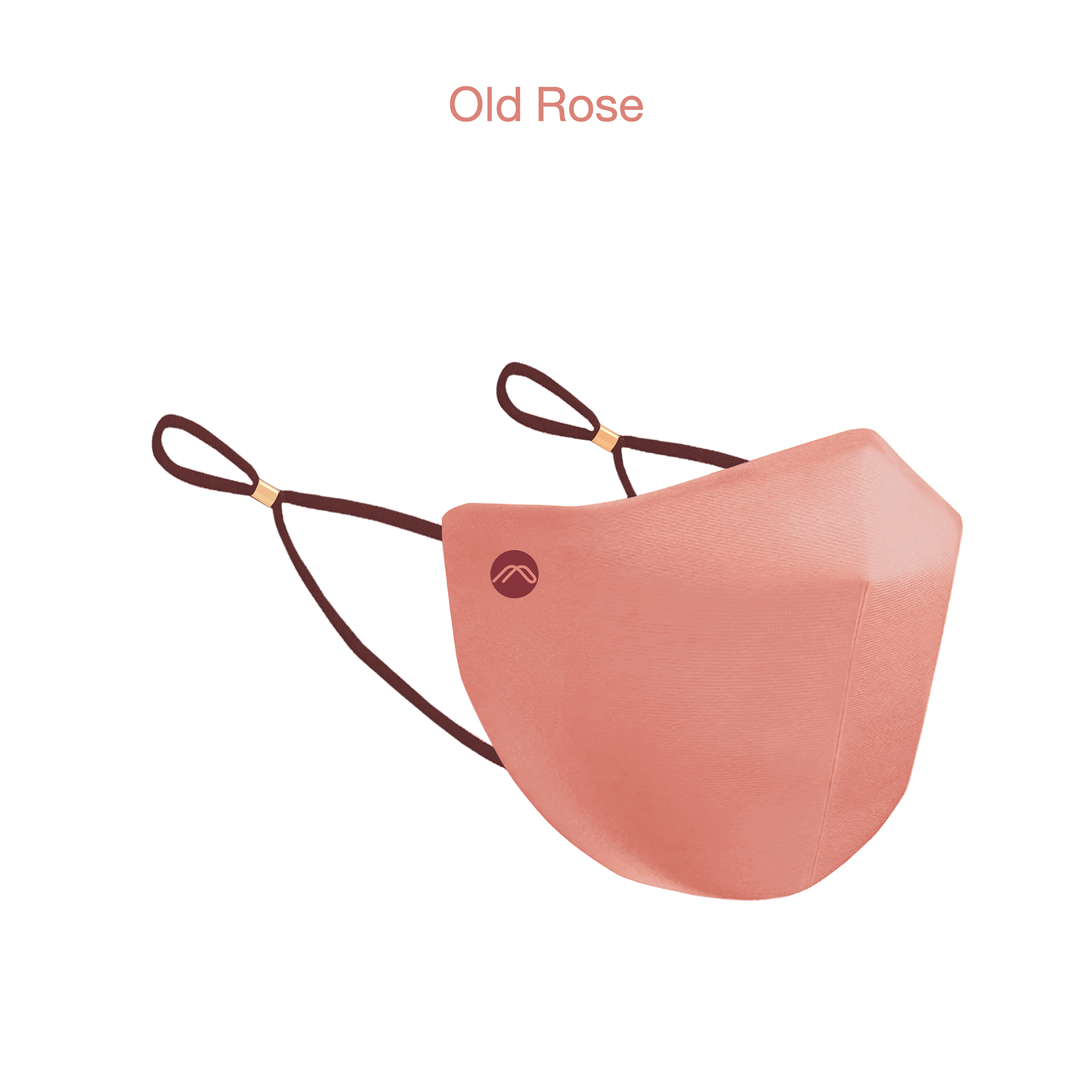 2 Layer Plain Facemask Old Rose