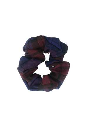 Catholic Tartan Scrunchie