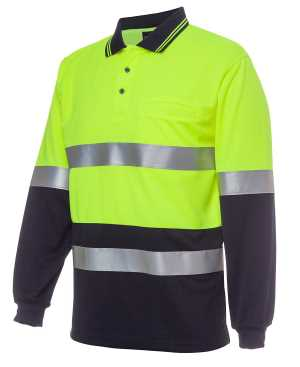 HI VIS L/S (D+N) TRADITIONAL POLO