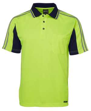 JB's HI VIS 4602.1 S/S ARM TAPE POLO