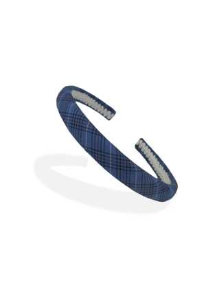 Tartan Headband Blue/Black/Red/White