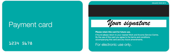 Payment Card Front and Back